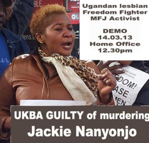 Jackie Nanyojo - Killed by UKBA